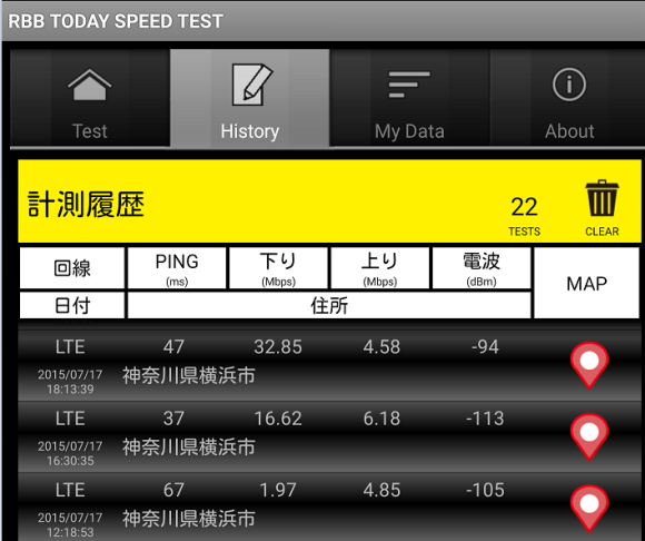 nifmo 速度テスト 2015年7月