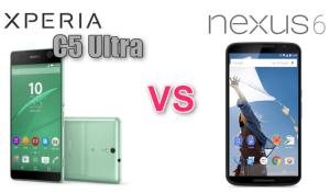 XPERIA C5 Ultra Google nexus6 スペック比較