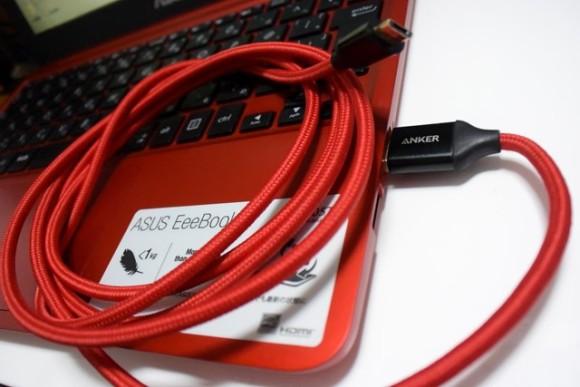 Anker micro USB ナイロンケーブル レビュー