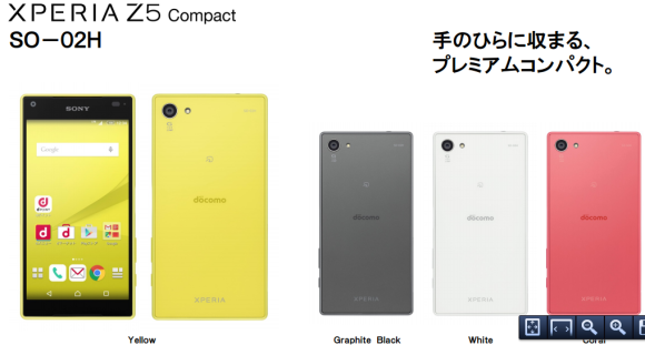SONY XperiaTM Z5 Compact SO-02H