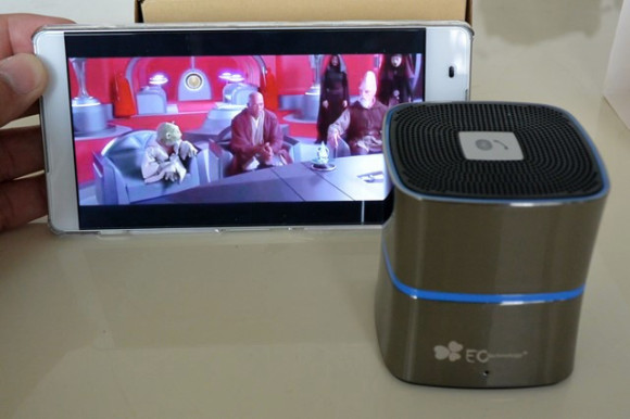 『EC TechnologyBluetoothワイヤレススピーカー』はコンパクトで美しいアルミデザインがクール