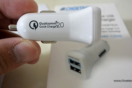 CHOETECH Quick Charge2.0対応急速充電カーチャージャー