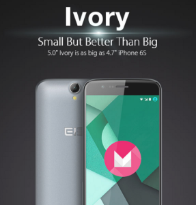 15,000円のAndroid 6.0中華スマホ「Elephone Ivory 4G 」5.0インチのエントリースマホ