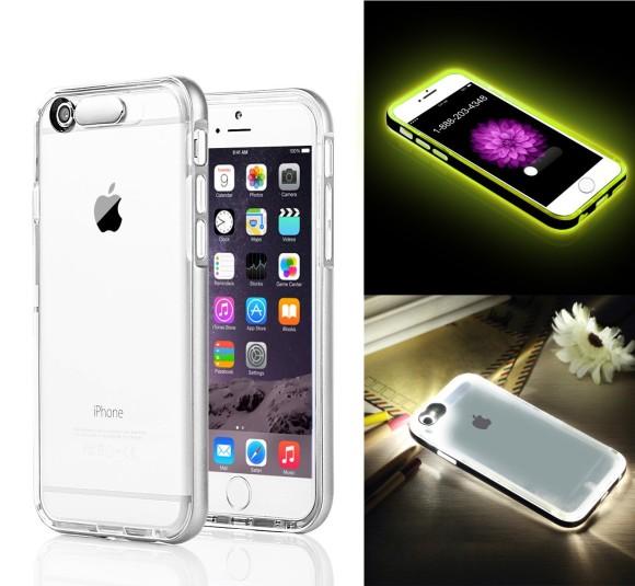 EC Technology 着信で光る iPhone 6 ケース シルバー