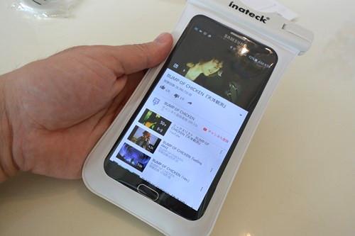 Inateck 最大5.7インチまで対応の大きめサイズのスマートフォン用防水ケース ODB001
