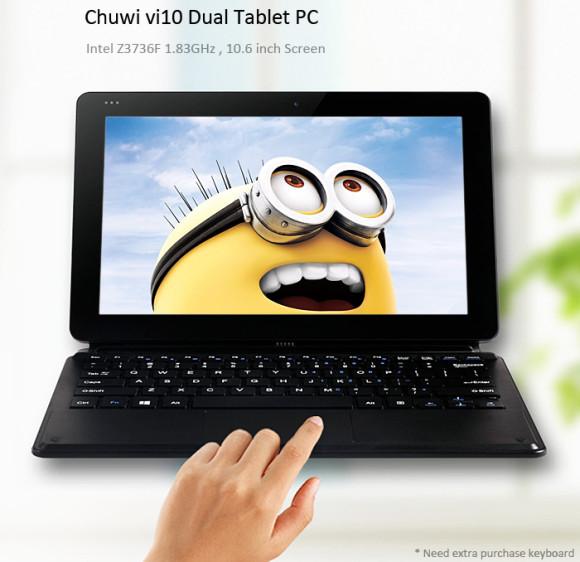 【クーポンでキーボードセットが約1.8万円】Windows+Androidの10.6インチタブレット『Chuwi Vi10』がお買い得