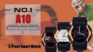G-Shockライクなスマートウオッチ『NO.1 A10』 7,000円で買える防水・防塵スマートウォッチはどう?