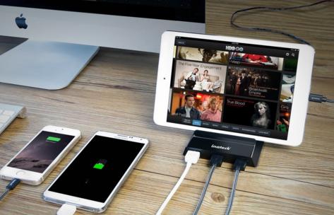 これは便利!スマホ/タブレットスタンド兼USB充電器『Inateck 36W 4ポート USB急速充電器 』レビュー!