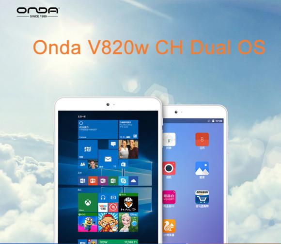 【セールで74.99ドル!】8インチデュアルOS+CherryTrail『Onda V820W CH』がセールで11,392円~