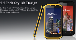 防水タフネス中華スマホ『No.1 Vphone X3』発表! 5.5インチHDで2万円ほどの予定