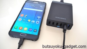 『CHOETECH Quick Charge対応 60W 6ポート USB急速充電器』レビュー! QC対応で充電が速い!