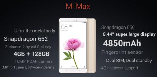 【クーポン更新】Xiaomi 6.4インチフルHD『Mi Max』発表~ズルトラ後継機になれる?