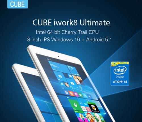 【セールより安いクーポン有】激安!8.0インチデュアルOSタブレット『Cube iwork8 Ultimate』が78.99ドルでセール中!