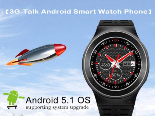 Android5.1搭載のスマートウオッチ『ZGPAX S99 3G』カメラ/3G SIMスロット搭載で1万円台で発売中