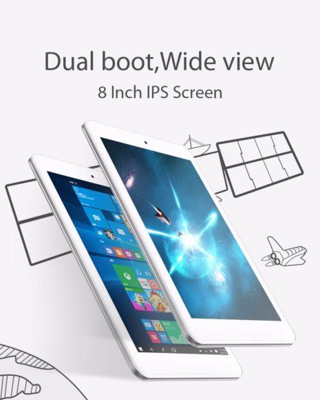 【セールで9320円】8インチで高解像度WUXGA『CUBE iWork8 Air』登場! Windows 10 + Android 5.1 でも1万円という安さ
