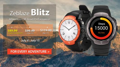 防水防塵Android5.1スマートウオッチ『Zeblaze Blitz 3G』発売! ゴリラガラス採用で1万円~