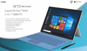 キックスタンド搭載のSurface風10.1インチタブレット『Vido W10 Elite Version』発売!WUXGA/4GB+128GBハイスペック