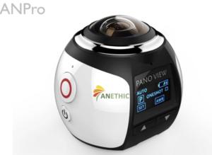 防水ハウジング付きの360度全天球カメラ『ANETHIC 360 Camera ANPro』が面白そう! 価格も約10,000円以下と買ったみたくなる