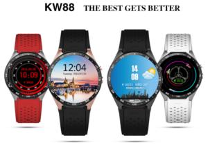 画面大きめ!有機EL1.39インチAndroid5.1スマートウオッチ『KingWear KW88』が発売!