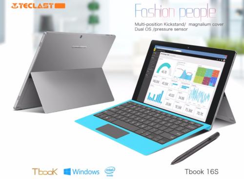 【クーポンで3,000円 OFF】Surface風キックスタンド搭載『Teclast Tbook 16S 』発売! 11.6インチ フルHDデュアルOSタブレット