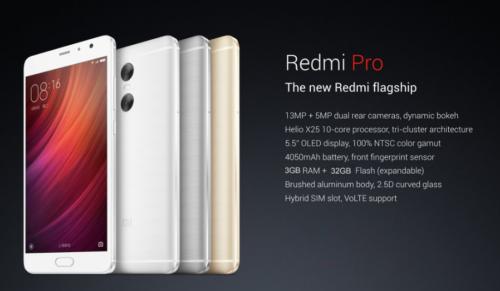 【100ドルOFFクーポン追加!】5.5インチ デュアルカメラ搭載『Xiaomi Redmi Pro』発売! Helio X25 10Core フルHD液晶搭載でお買い得