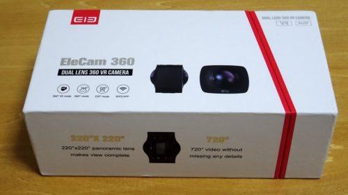【実機レビュー:前編】360度カメラ『Elephone Elecam 360 WiFiアクションカム』レビュー! 開梱~本体周りをチェック