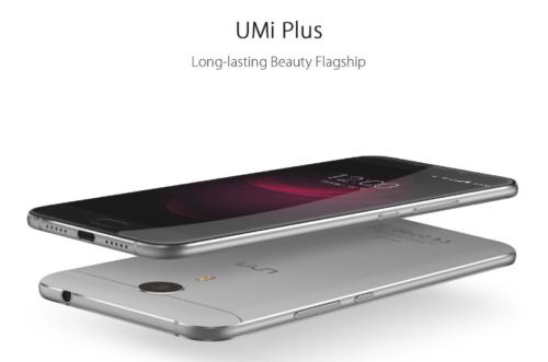 5.5インチフルHD『UMi Plus』発売! 4GB RAMとHelio P10を搭載したフルメタルボディスマホ