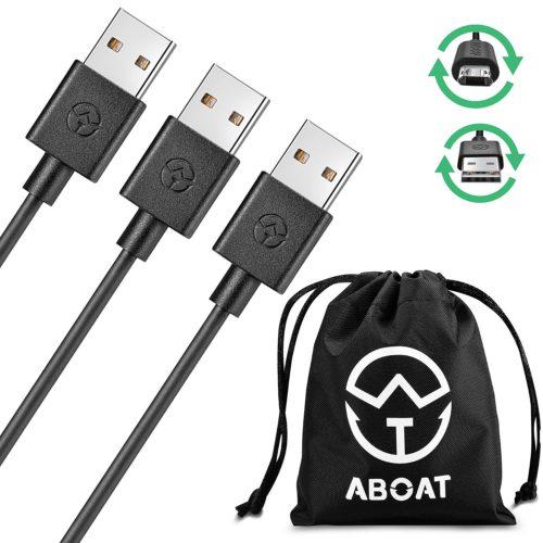 ABOAT microusbケーブル 両端リバーシブルマイクロUSBケーブル