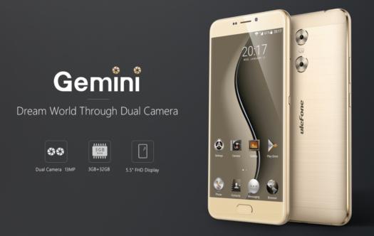 Ulefoneからも低価格デュアルレンズカメラスマホ『Ulefone Gemini』が発売~5.5インチフルHDでスタイリッシュデザイン