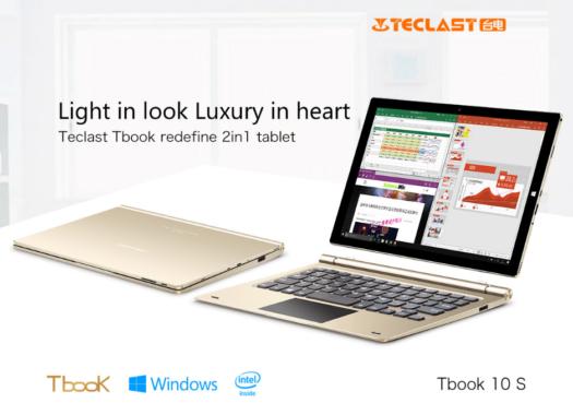 薄型10.1インチWUXGAタブレット 『TECLAST Tbook 10 S』がCPUマイナーチェンジして発売!