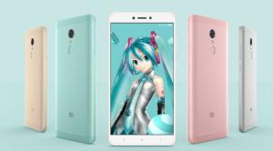 Xiaomi Redmi Note 4X発表。Snapdragon625を搭載し、999元で発売! 初音ミクとコラボモデルも!