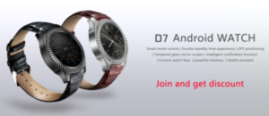 わずか80ドルの大人なAndroidスマートウオッチ『DT NO.1 D7』が発売!