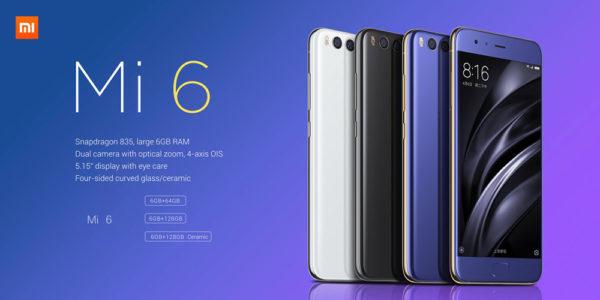 【セラミック439.99ドル 】全てが最強!デュアルカメラ/スナドラ835/防滴『Xiaomi Mi6』の価格比較とスペック