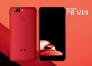 1万円台で色鮮やかなデザインの5インチデュアルカメラスマホ『Elephone P8 mini』が発売