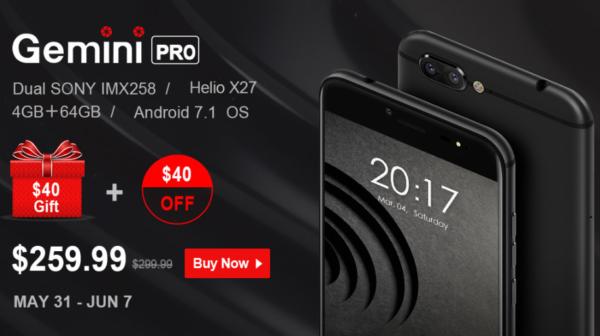 レッドが映えるHelioX27+デュアルカメラスマホ『Ulefone Gemini Pro』発売