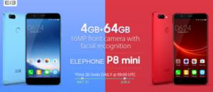 【139.99ドルでセール】1万円台で色鮮やかなデザインの5インチデュアルカメラスマホ『Elephone P8 mini』が発売