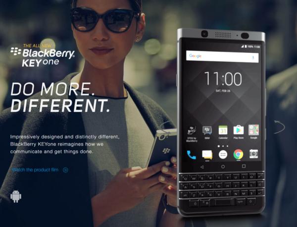 【クーポンで489.99ドル】あのキーボード付スマホの最新版『BlackBerry KEYone』が発売