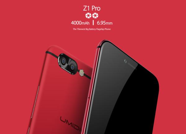 【日本専用クーポンで257.99ドル】iPhoneより薄い6.95mm!『UMiDIGI Z1 Pro』発売! デュアルカメラで6GB RAM、5.5インチ有機ELディスプレイ搭載