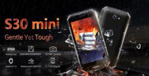 【クーポンで144.99ドル】キャップレスIP68防水のタフネススマホ『NOMU S30 mini』が発売!