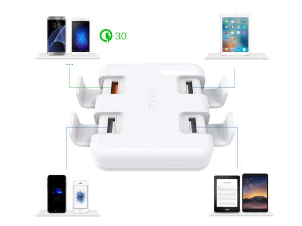 これは便利そう~スマホ/タブレットスタンドにもなる4ポートUSB充電器「Chuwi Hi-Dock」が発売