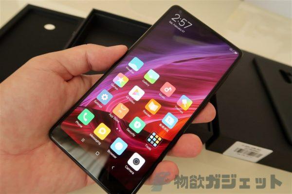 【実機レビュー】docomo LTE B19対応 3面狭額縁スマホ『Xiaomi Mi MIX 2』ファースト・インプレッション