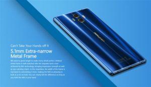【クーポンで125.99ドル】3面狭額縁『Ulefone MIX』発売! ブルーが美しい5.5インチデュアルレンズカメラスマホ