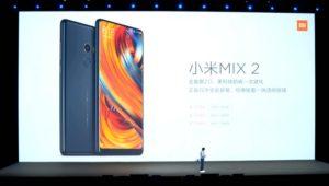 【驚異の457.99ドル!】3面狭額縁が更に進化!『Xiaomi Mi MIX 2』発表~5.99インチでスリムになり日本のプラチナバンドサポートもあり!