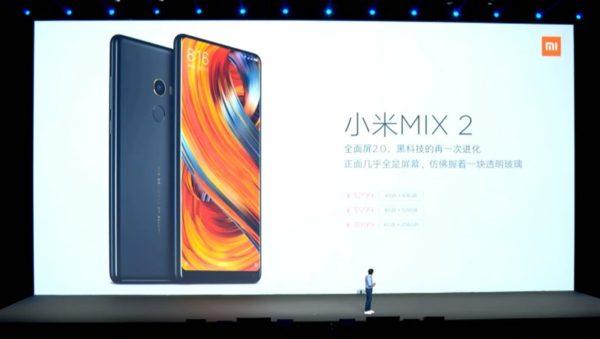 【128GB版 クーポン追加】3面狭額縁が更に進化!『Xiaomi Mi MIX 2』発表~5.99インチでスリムになり日本のプラチナバンドサポートもあり!