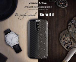 【セールで20ドルOFF】日本の4G B19対応防水防塵タフネススマホ『Vernee Active』発売! 大人なデザインでHelio P25でミドルレンジ