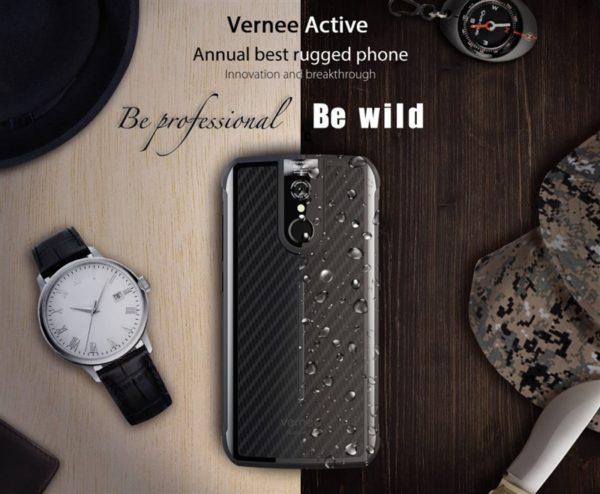 【クーポンで5% OFF】日本の4G B19対応防水防塵タフネススマホ『Vernee Active』発売! 大人なデザインでHelio P25でミドルレンジ