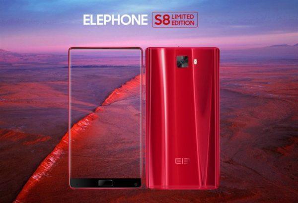 【レッド/ブルー229.99ドル】画面占有率 92.4%! 3面ベゼルレス『Elephone S8』が発売! 2K 6インチディスプレイ、Helio X25とハイスペック