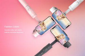 【クーポンで99ドル!】スマホジンバル『FeiyuTech Vimble 2』自撮り棒機能付きで発売!ピンクやホワイトも選べて約110ドルのエントリー機