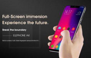 ノッチデザインで100ドルスマホ『Elephone A4』発売!側面指紋認証/背面ガラスなどローエンドだけど凄い