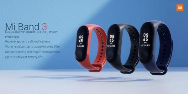 50m防水、心拍数常時計測など進化した新『Xiaomi Mi Band3』発売!